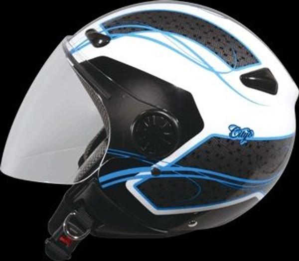 ZEUS HELMET JET ZS 210B DD45 WHITE/BLUE