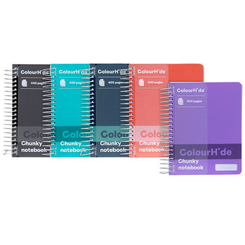 Colourhide Chunky Notebook 140 x 110mm 400 Page Assorted