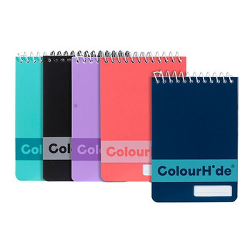 Marbig ColourHide® Pocket Notebook A7 96 Pages Pack Of 5