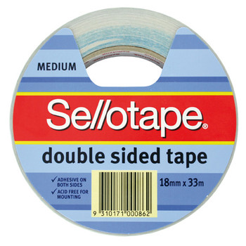 Sellotape Double Sided Adhesive Tape 18mm x 33m