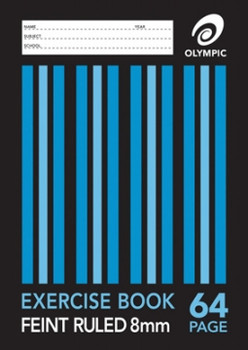 Olympic Exercise Book A4 64 Page 8mm Feint Ruled