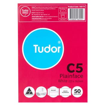 Tudor C5 White Envelopes Pk/50 140173