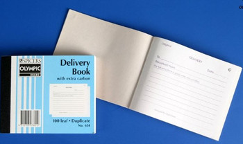 Olympic Delivery Book 100 x 125mm Duplicate #634