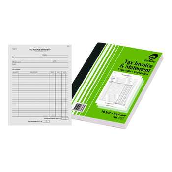 Olympic Invoice & Statement Carbonless Triplicate #727