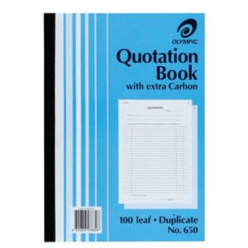 Olympic Carbon Quotation Book A4 Dup 210x297mm #650