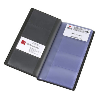 Marbig Business Card File Black (208 Card Capacity)