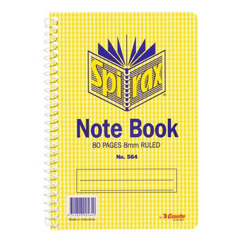 Spirax #564 Notebook Side Opening 40 Leaf 167 x 114mm