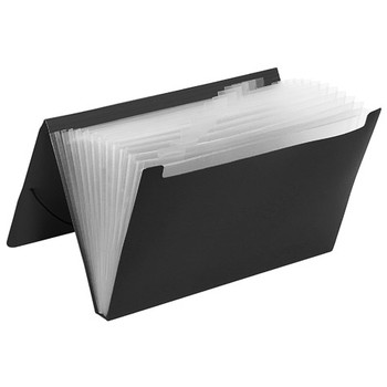 Marbig Expanding 12 Pocket File Black