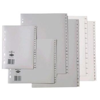 Marbig Index A4 1-10 Dividers Grey