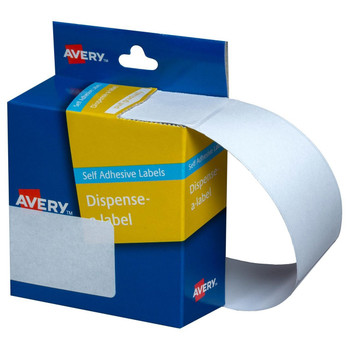 Avery Dispenser Labels White  Rectangle 29 x 76 mm 180/Pack
