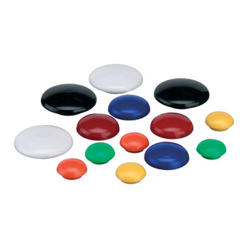 Magnetic Buttons Quartet 20mm Black 10/Pack