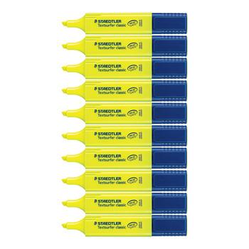 Staedtler Textsurfer Highlighter Yellow 10 Pack