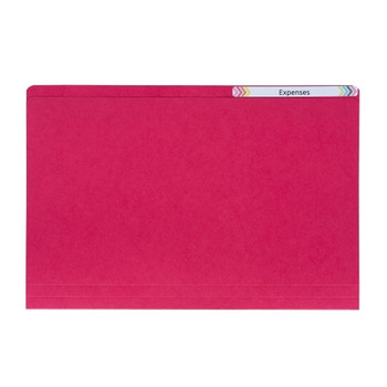 Avery 81512 Manilla Folders Foolscap Red 100 Pack