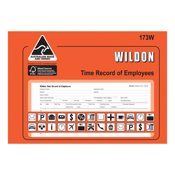 Wildon Time Record of Employees 173W