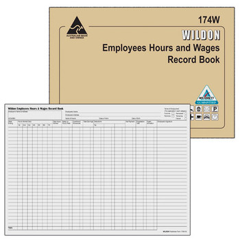Wildon Employees Hours & Wages Book 174W