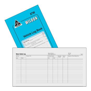 Wildon Vehicle Log Book 87W