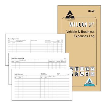 Wildon Vehicle & Business Expenses Log 86W