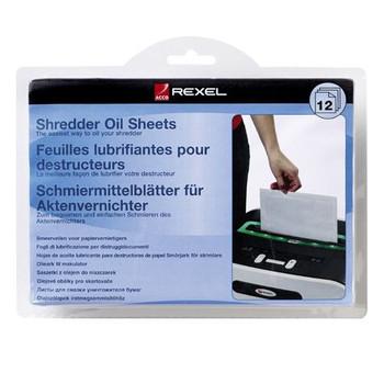 Rexel Shredder Oils Sheets Pk/12 2101948