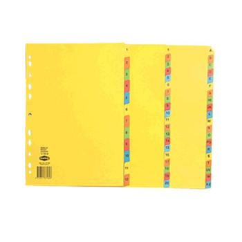 Marbig A4 Bright Colour Dividers, A-Z Tab Index