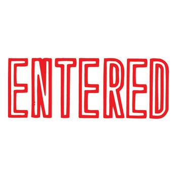 Xtamper 1021 ENTERED Stamp Red