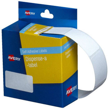 Avery White Dispenser Labels Rectangle 19x36mm  P/450