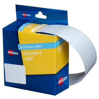 Avery White Dispenser Labels Rectangle 24x32mm 420/PK