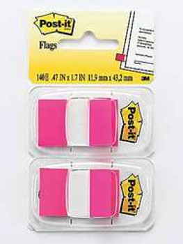 3M 680-BP2 Bright Pink Post- it  Flags 2Pack