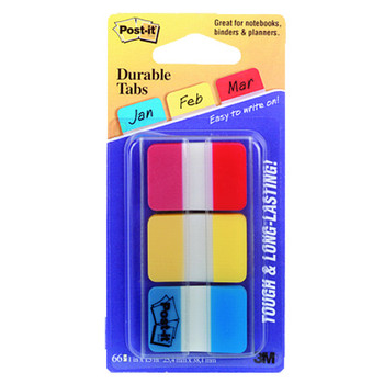Post-it 686-RYB Assorted Colours Durable Tab Index Flags Pk/66
