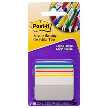 Post-it 686A-1 Durable Hanging File Tabs Pk/24