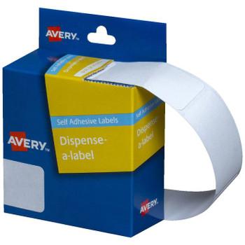 Avery White Dispenser Labels Rectangle 24x49mm Pk/325