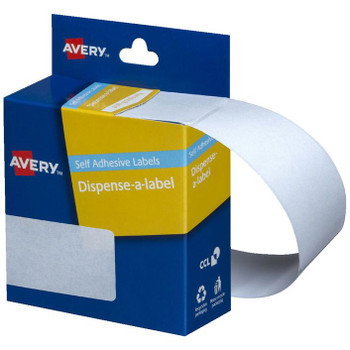 Avery White Dispenser Labels Rectangle 76x27mm Pk/180