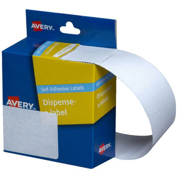 Avery White Dispenser Labels Rectangle 89x43mm Pk/100