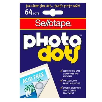 Sellotape Sticky Dots Photo Dots Pk/64