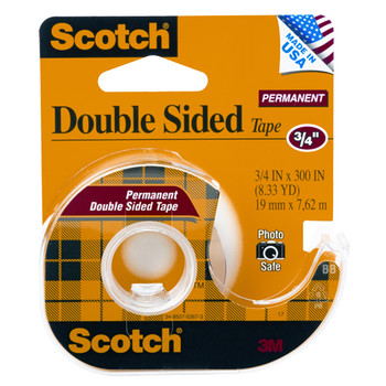 Scotch 237 Double Sided Tape & Disp 19mm x 7.6m