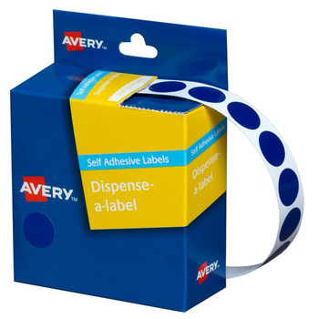 Avery Dispenser Labels Blue Circle 14mm Pk/1050