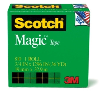 Scotch 810 Magic Invisible Tape 19mm x 33m