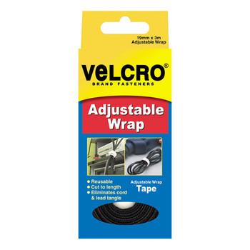 Velcro Adjustable Wrap White 19mmx3m