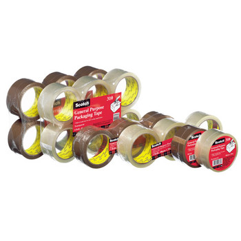 Scotch 310-6PK  Packaging Tape Brown 48mm x 50m Pk/6