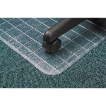 Marbig Dura Mat™ Grid Pattern Chairmat Small with keyhole - 91 x 121 cm