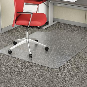 Marbig EconoMat Chairmat Large with key Hole 114 x 134cm