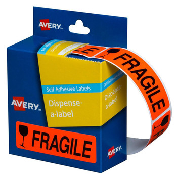 Avery 937252 Pre-printed Dispenser Labels 'Fragile' 125 Pack