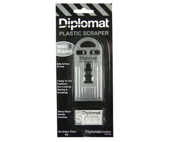 Diplomate Plastic Scraper With 5 Blades