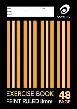 Olympic Exercise Book A4 48 Page 8mm Feint Ruled