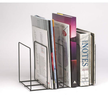 Marbig 86047 Wire Instyle Book/Magazine Rack Black