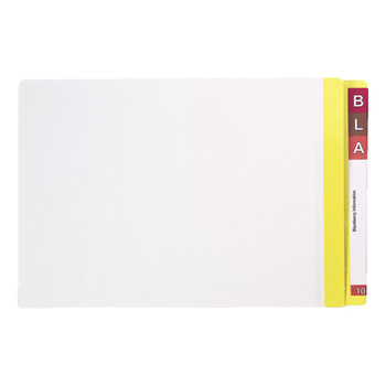 Avery Shelf Lateral Foolscap Yellow Mylar End Tab File