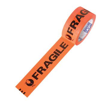 Post-it 3772 Pre-Printed Message Tape Fragile Black On Orange