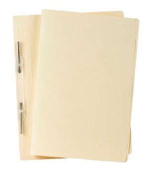Avery 84504 Spiral Spring Action File Heavyweight Foolscap Buff 25/Box