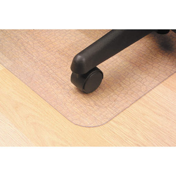 Marbig Hard Floor And Tile Floor Chairmat Large with keyhole 114 x 134cm Clear