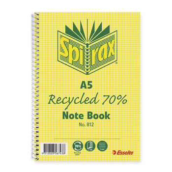 Spirax 812 Recycle Notebook A5 120 Page