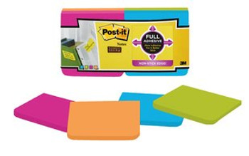 Post-it F330-12SSAU Super Sticky Full Adhesive Notes 76x76mm 12/Pack